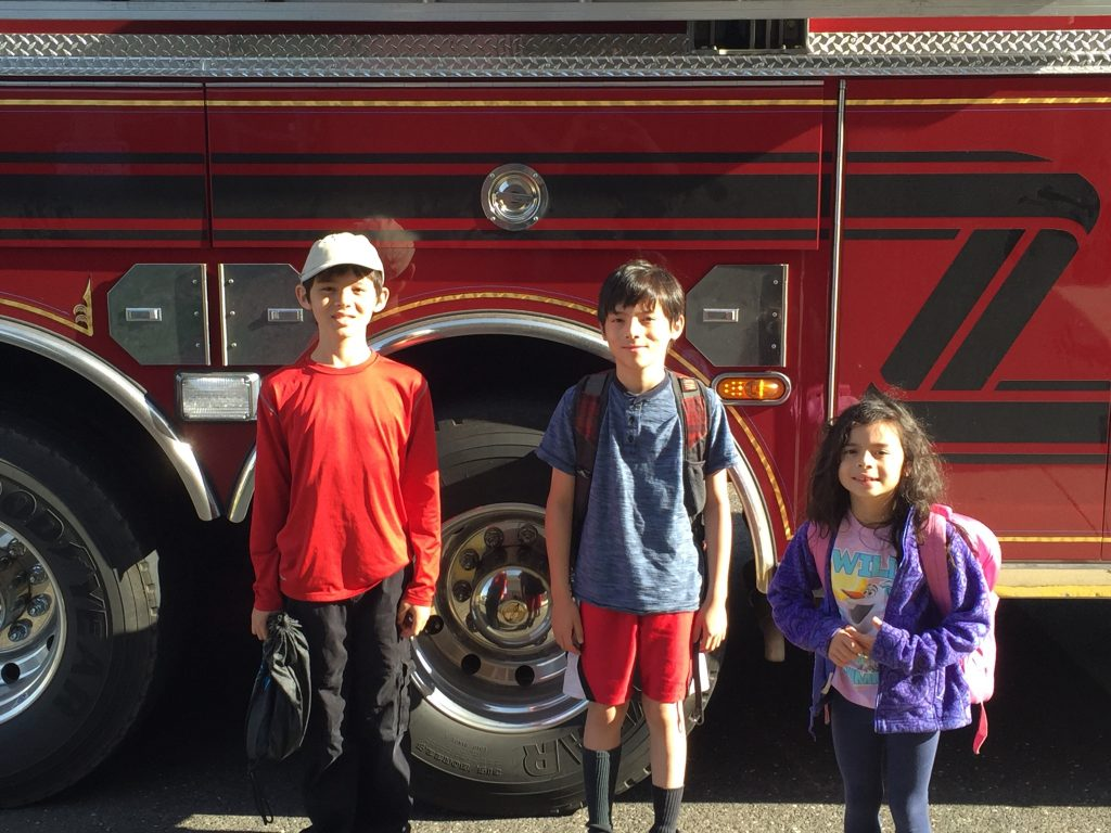 WINNER – Firetruck Ride to School!
