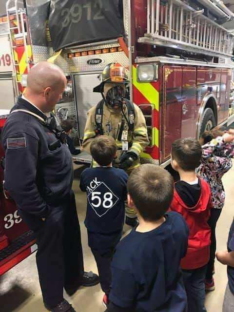 Cub Scout Pack 58 stopped by for a station tour!